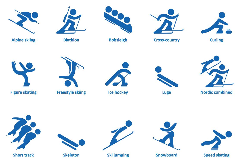 Olympic Sports Symbols Clip Art N6 Free Image