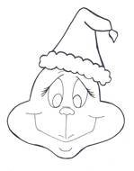 Grinch Coloring Page drawing