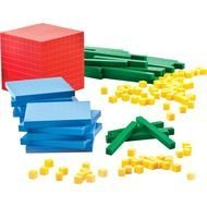 red, blue, green and yellow blocks of the designer
