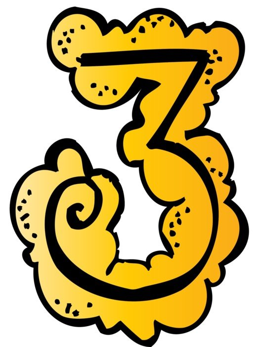 number '3' as a graphic illustration