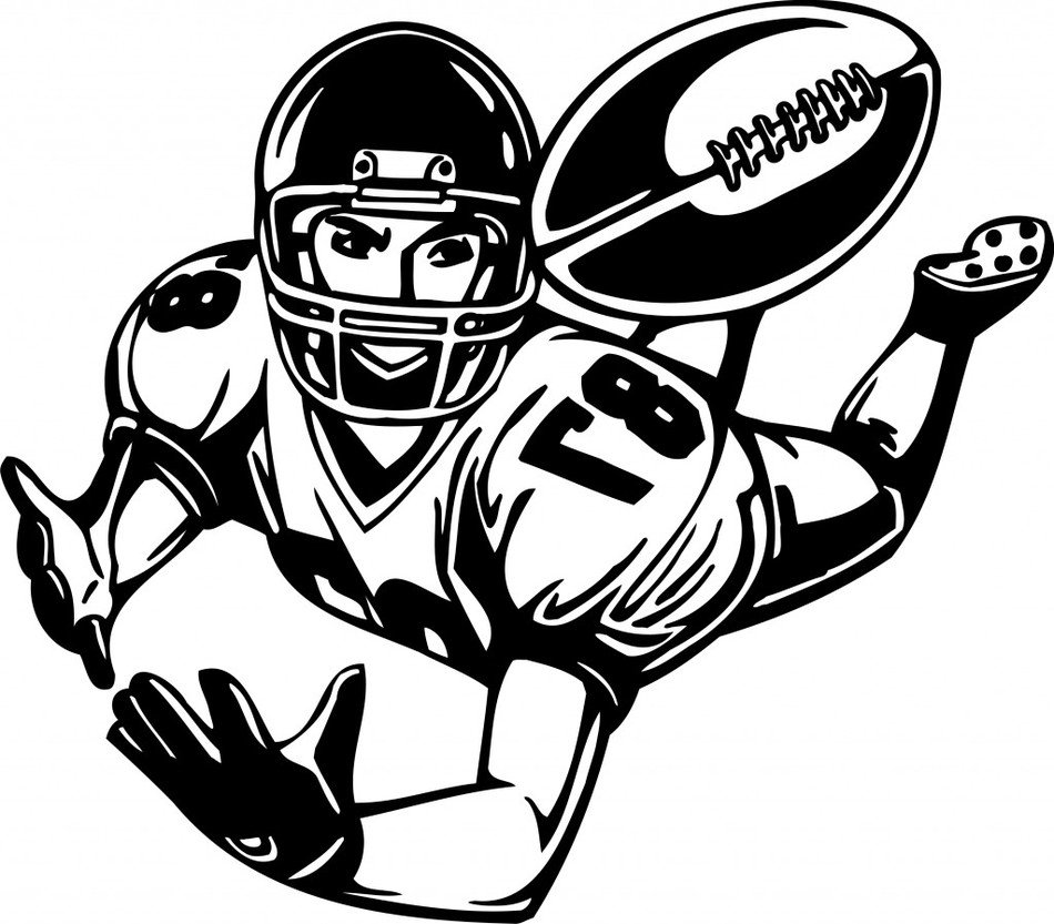 Football Player Clip Art drawing