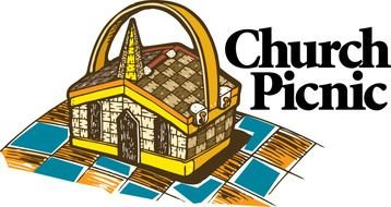 Church Picnic as a graphic illustration