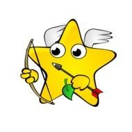 animated star with a bow in hand