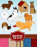 Dog Clip Art Breeds Clipart Set Breed By GraphicGears $550