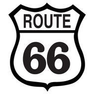 Black and white 66 Route clipart
