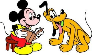 Mickey Mouse And Pluto Cartoon