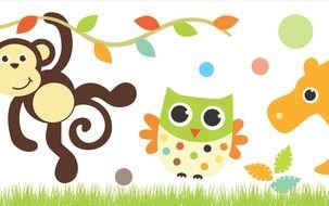 Baby Safari Clip Art Borders drawing