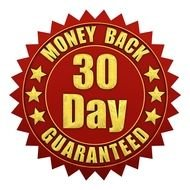 label for 30 Day money back guarantee