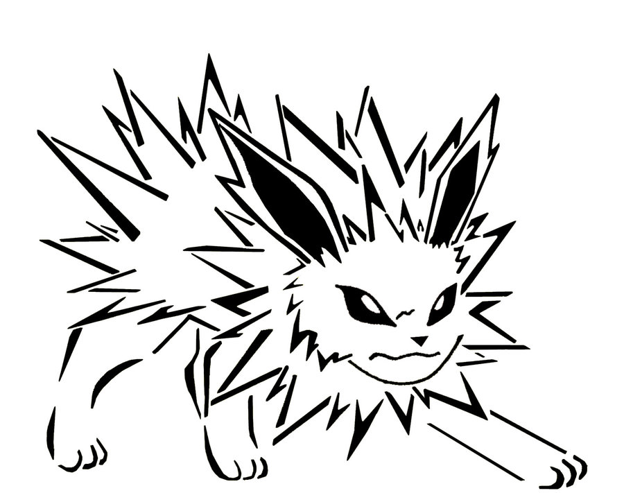 Pokemon Jolteon Coloring Pages Free Image