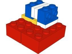 LEGO Block as a graphic illustration