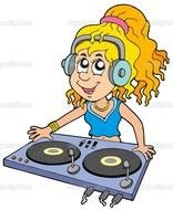 clipart of the Cartoon DJ Turntables