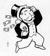 Monopoly Man With Money drawing