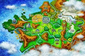 Colorful Pokemon X And Y Map clipart