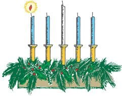 First Sunday Of Advent Candle drawing