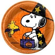 Clip art of Halloween Peanuts Party Plate