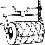 Black and white drawing with the paper towel clipart