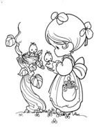 Precious Moments Valentine Coloring Pages free image