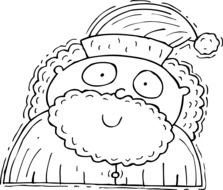 Santa Claus Clip Art Black And White drawing