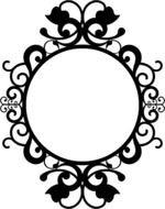 painted black lace frame for a round mirror