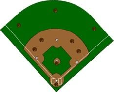 green Baseball Diamond drawing