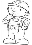 Bob The Builder Coloring Pages drawing