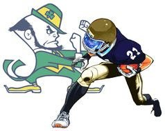 Notre Dame Fighting Irish Logo Clip Art