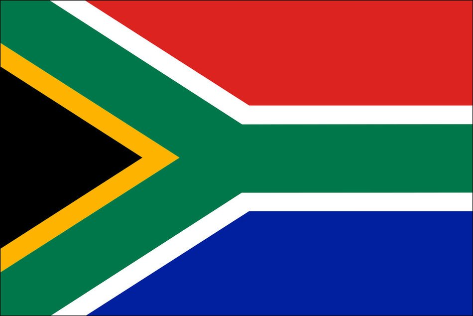 colorful flag of South Africa