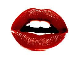 red lips as a picture for clipart