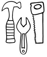 Carpenter Tools Coloring Pages