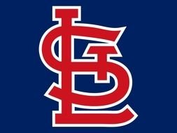 St Louis Cardinals red Logo drawing