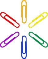 colored paper clips clipart