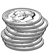 Black And White Coins Clip Art