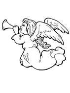 Angel Coloring Page drawing