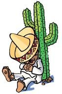 Clipart of Mexican Siesta