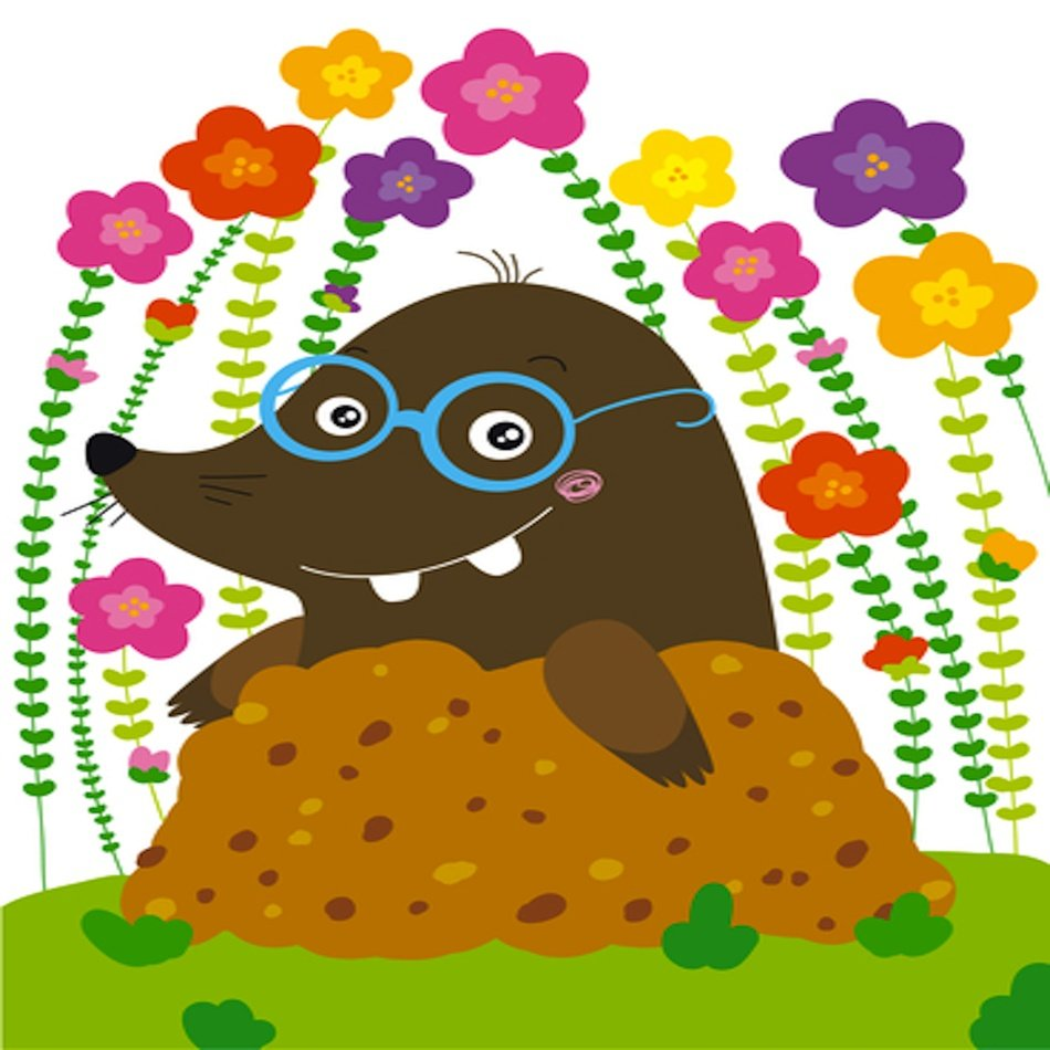 Mole Day with flower clipart