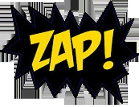 Superhero Action Words Zap drawing