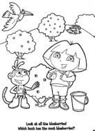 Dora Explorer Coloring Pages N3
