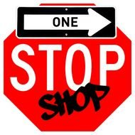 Clip art of One Stop Shop logo