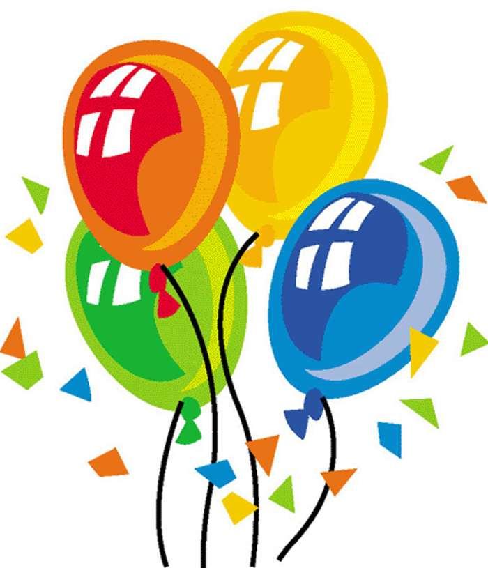 HAPPY BIRTHDAY BALLOONS CLIP ART FREE N46