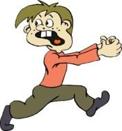 Cartoon Person Running Away Scared