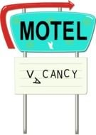 Vintage Arrow Sign Png Motel