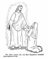 Jesus and Mary Magdalene, Coloring Page