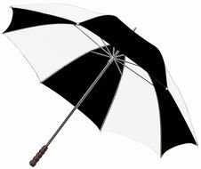 Black And White Golf Umbrella drawing