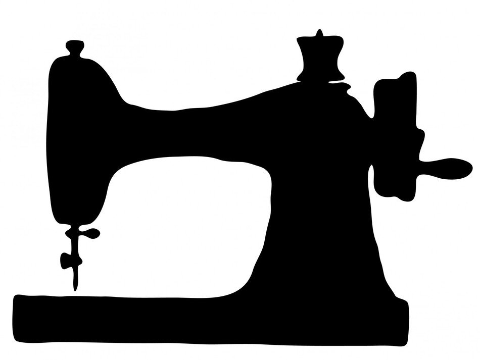 Sewing Machine Silhouette drawing