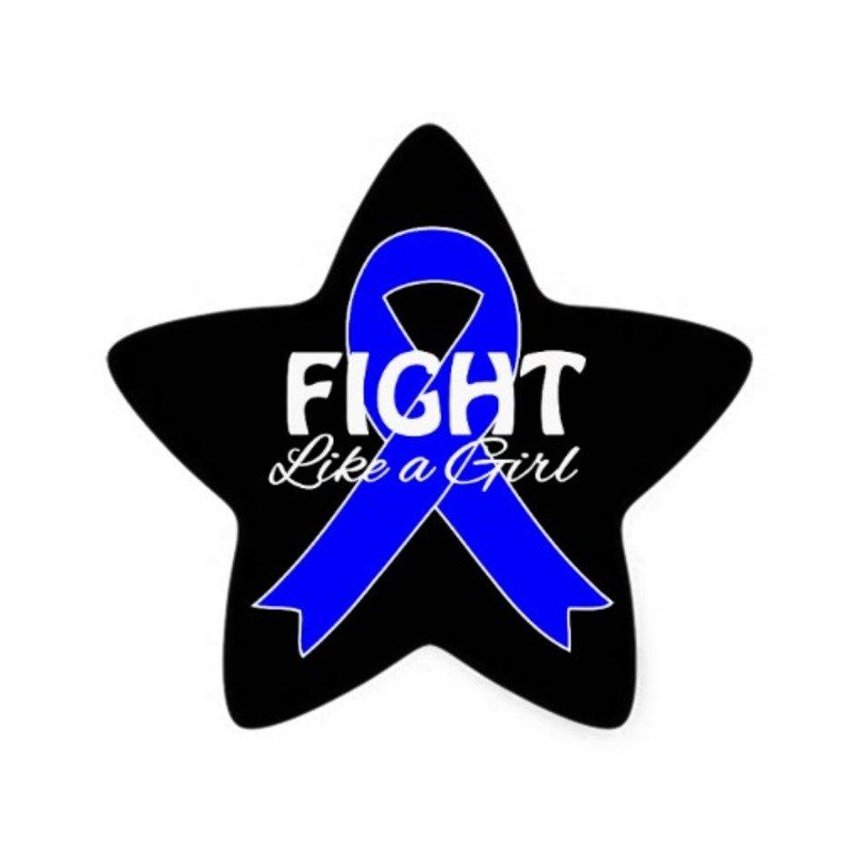 Blue Star Colon Cancer Ribbon Free Image