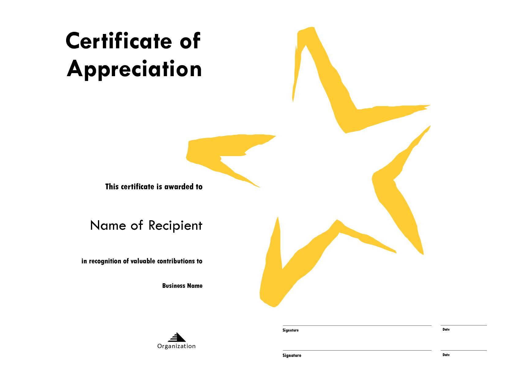 star award certificate templates free image