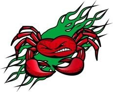 Cartoon red crab clipart