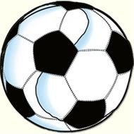 black and white Soccer Ball, drawing