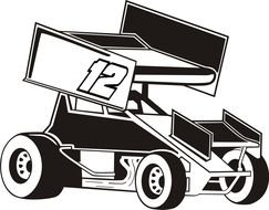 Sprint Car Decals drawing