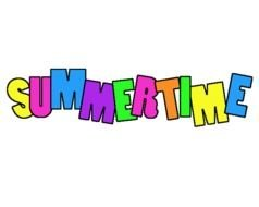 Clipart of a Summertime